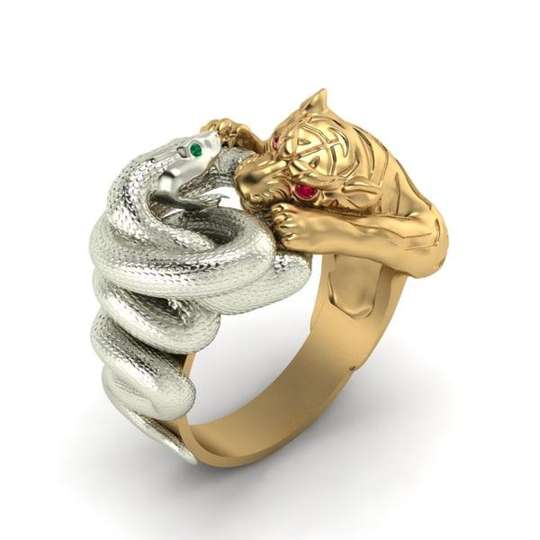 ring tiger snake obj