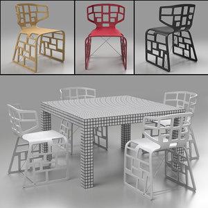quaderna table crassevig ole 3d obj