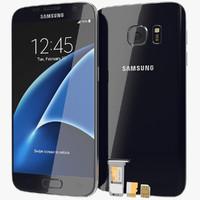 Samsung Galaxy S7 Black Onyx with SD/SIM Card Tray