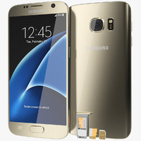 Samsung Galaxy S7 Gold Platinum with SD/SIM Card Tray