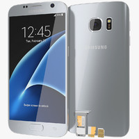 Samsung Galaxy S7 Silver Titanium with SD/SIM Card Tray