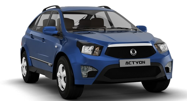 3d model of ssangyong actyon