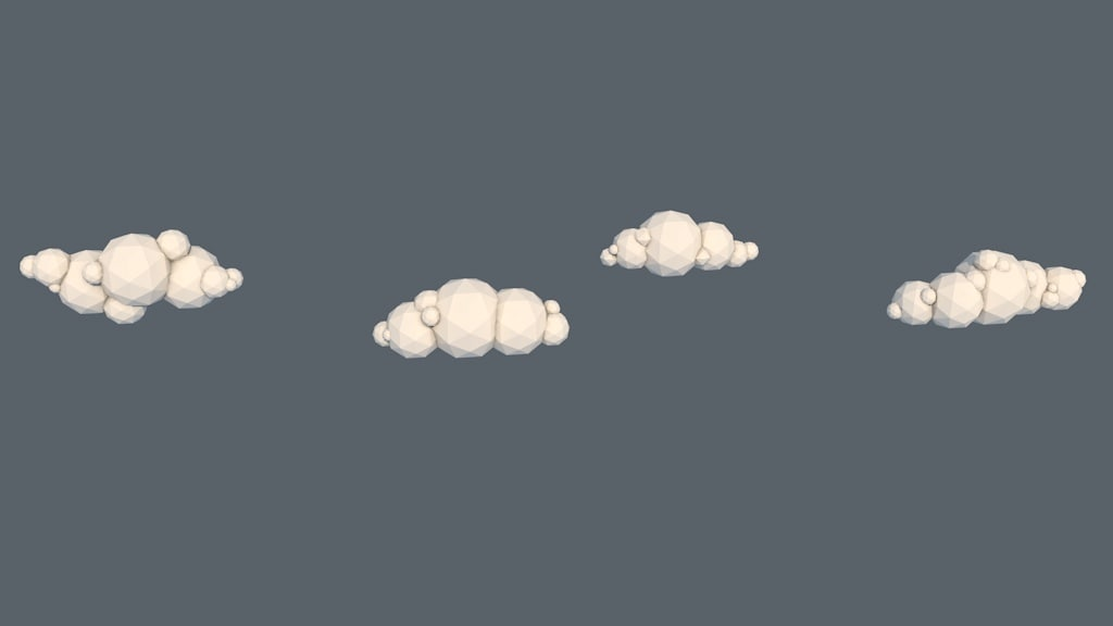 3d c4d clouds pack