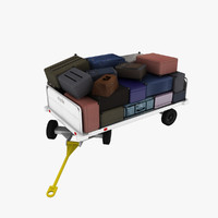 3d clyde 15f2900 baggage cart model