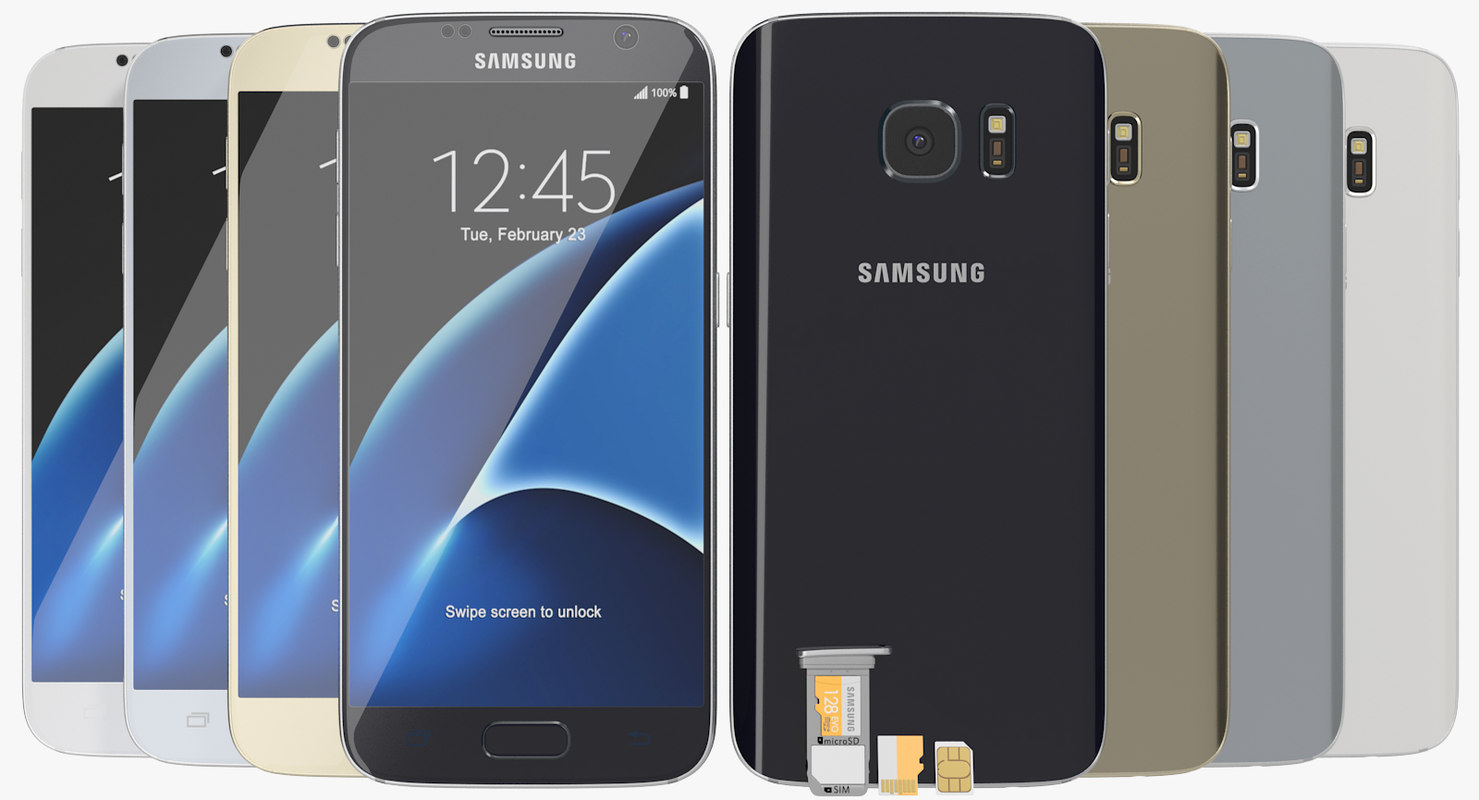 realistic samsung galaxy s7 3ds