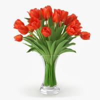 tulip vase 3d model