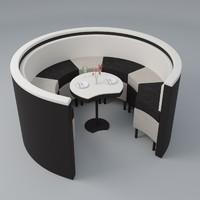 3ds restaurant sofa