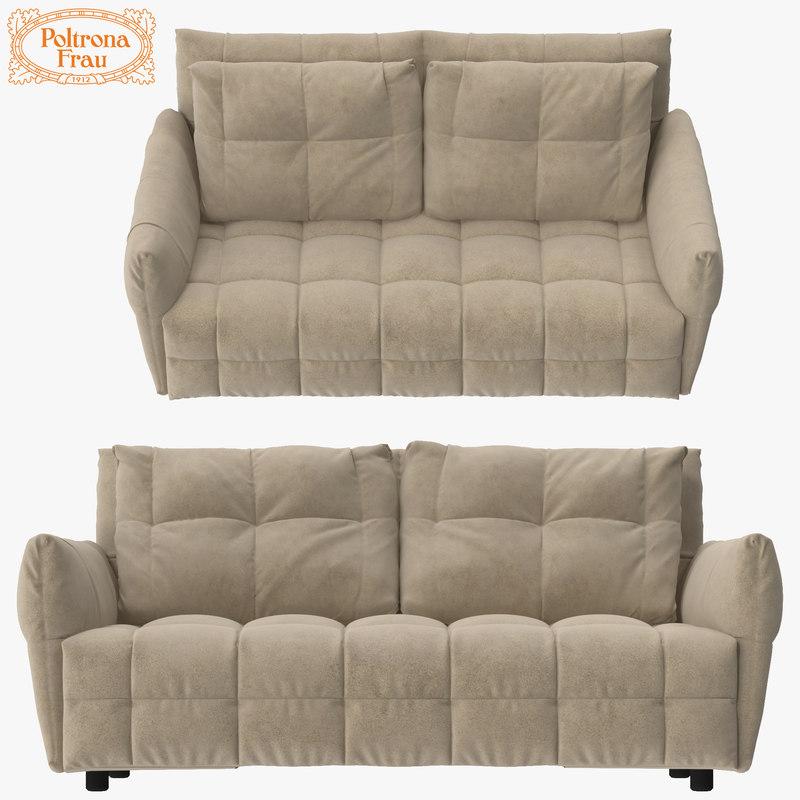 3d max poltrona frau duvet sofa. Black Bedroom Furniture Sets. Home Design Ideas