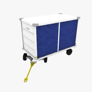 3ds clyde 15f2950 baggage cart