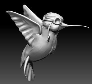3d model hummingbird