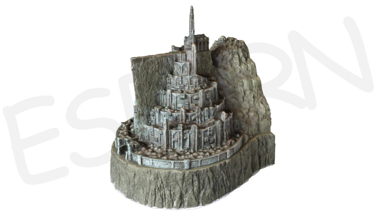minas tirith 3d model