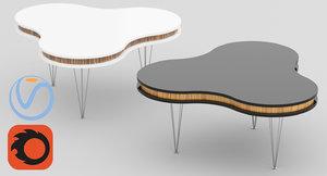 obj corona table