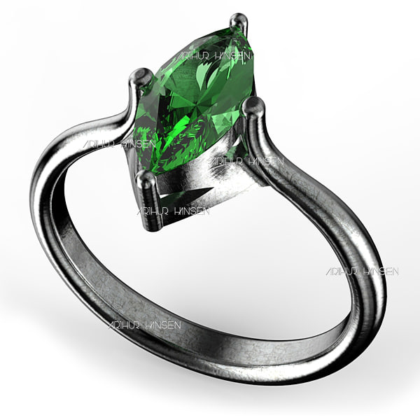 3d model of marquis ring 10x45