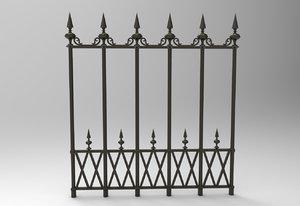 3d model victorian fence
