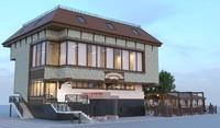 3d model cafe restaurant