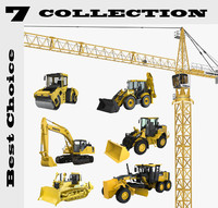 construction vehicles 3d model