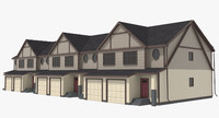 townhouse urban street 3d model
