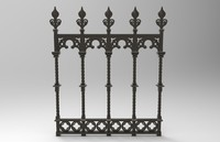Ornate Iron Fence
