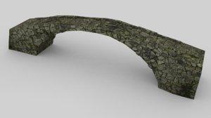 3d model of old stone bridge