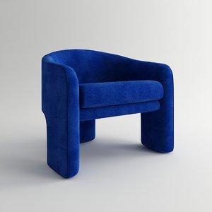 3d model of club chair