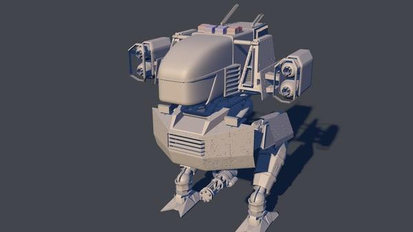 3d c4d future robot