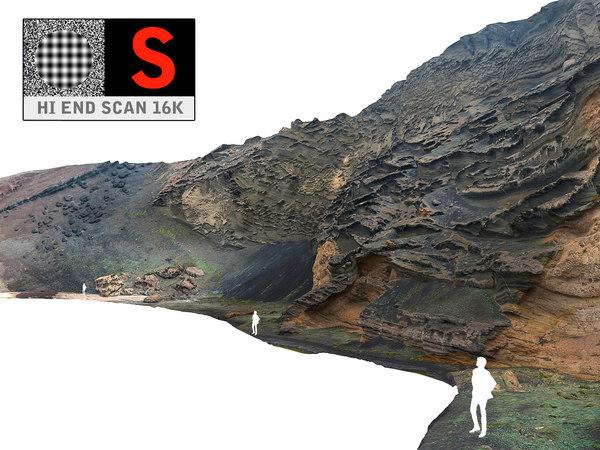 ocean cliffs hd 16k 3d obj