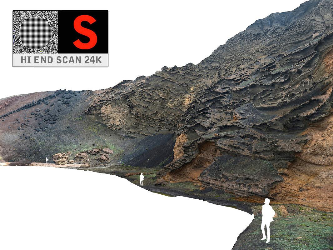 ocean cliffs ultra hd 3d model