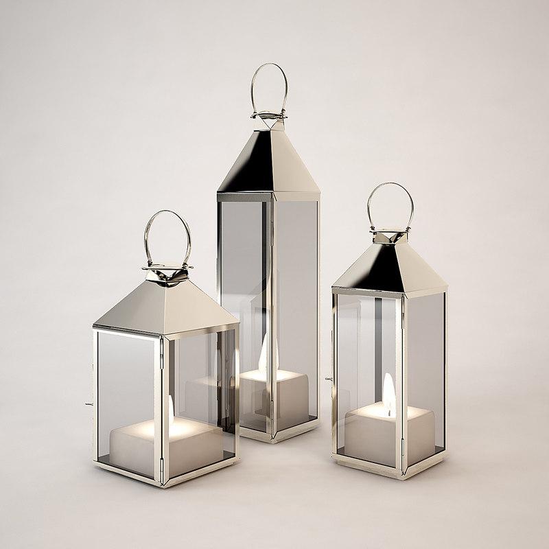 eichholtz hurricane lantern 3d model