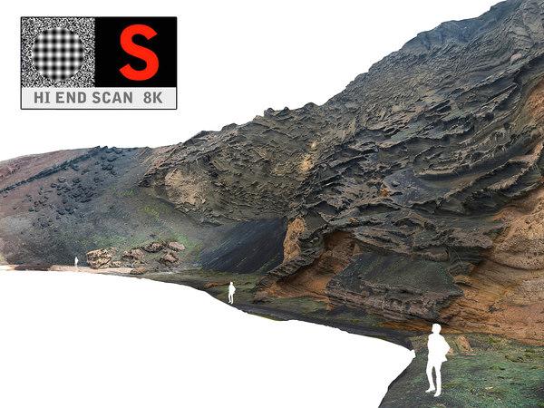 3d model ocean cliffs