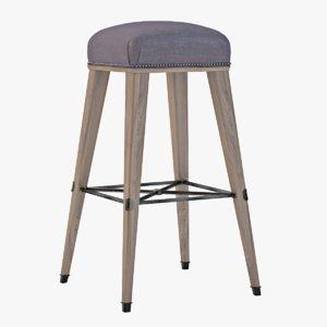 3d model jacob counter stool