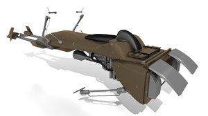 3d speeder bike