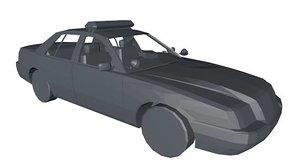 3d model police cop car