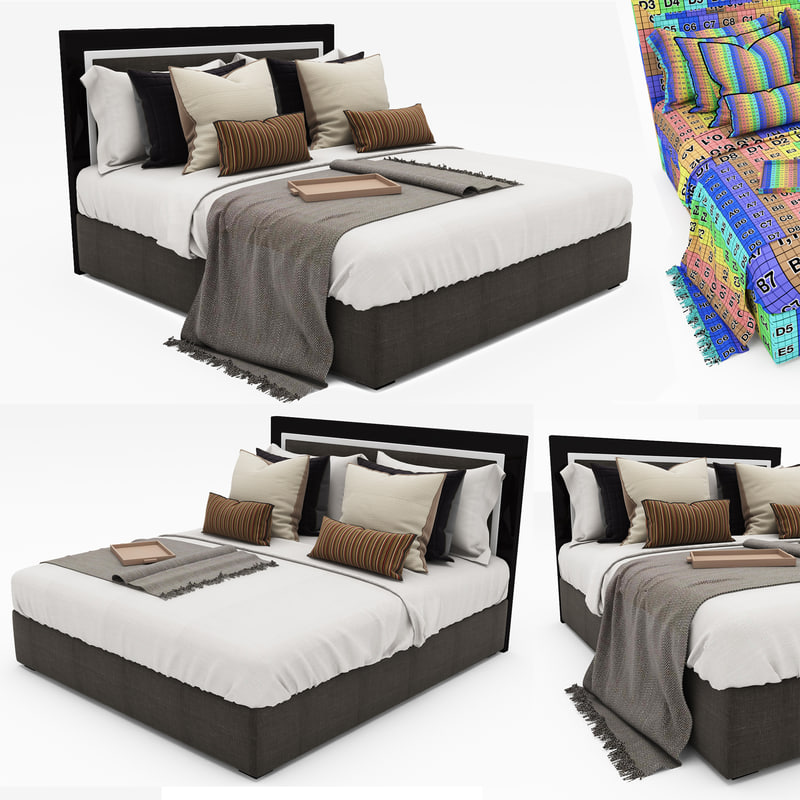 3d bed 45 model