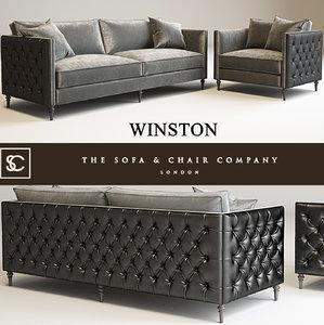 3d model winston sofa chair