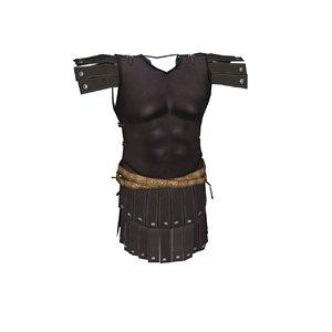 armor chainmail cuirass 3d model