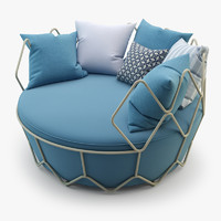 Roberti Rattan Gravity Sofa