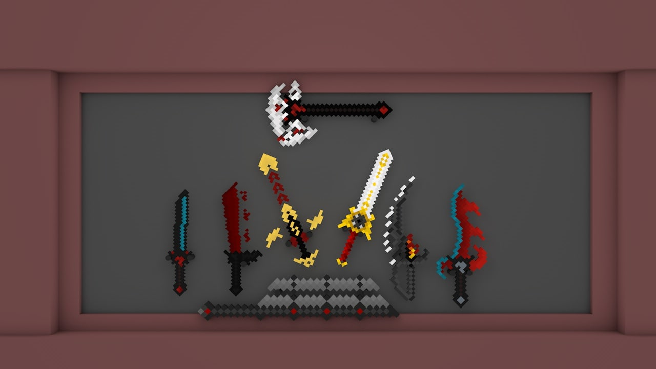 c4d minecraft weapon pack