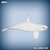 c4d base mesh orca whale