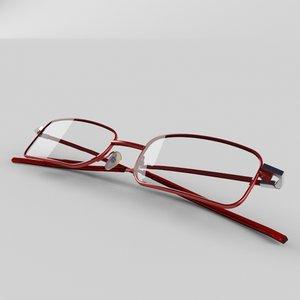 3d model eyeglass eye glasses