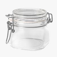 3d model hinged glass jar 03