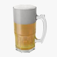 standard beer mug 3d max