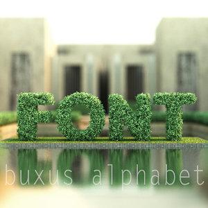 3d model alphabet buxus