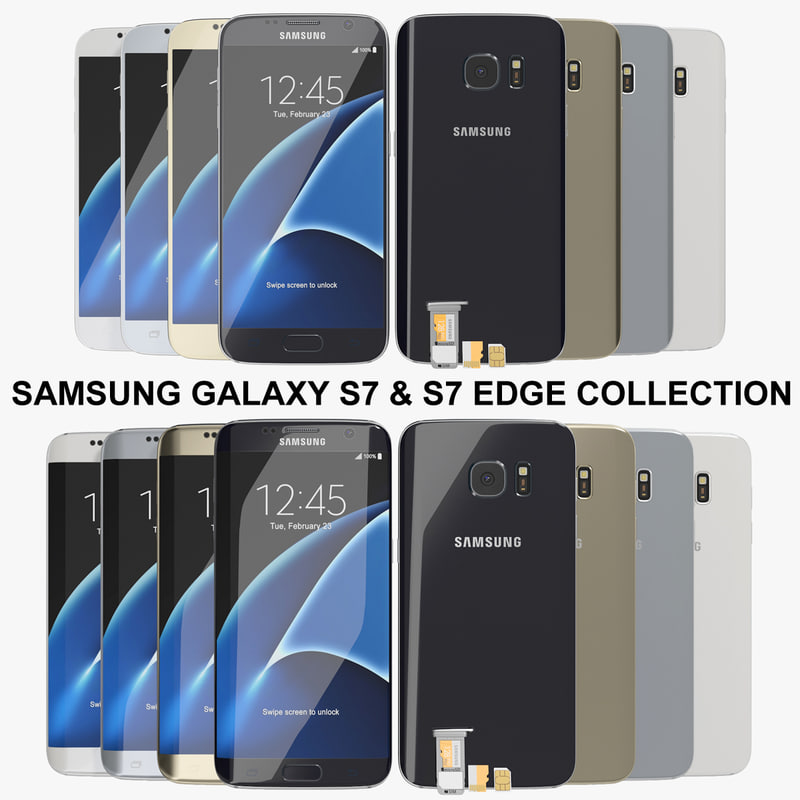 realistic samsung galaxy s7 3d 3ds
