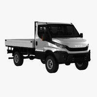 3d model iveco daily pickup