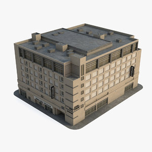 3d c4d building san francisco