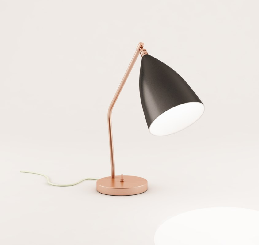 3d lamp grasshopper table