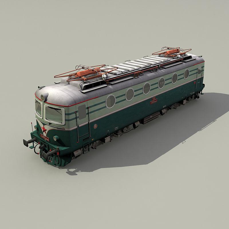 3d model electric e499 0 locomotive