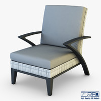 3d model rexus armchair white