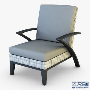 3d model rexus armchair white