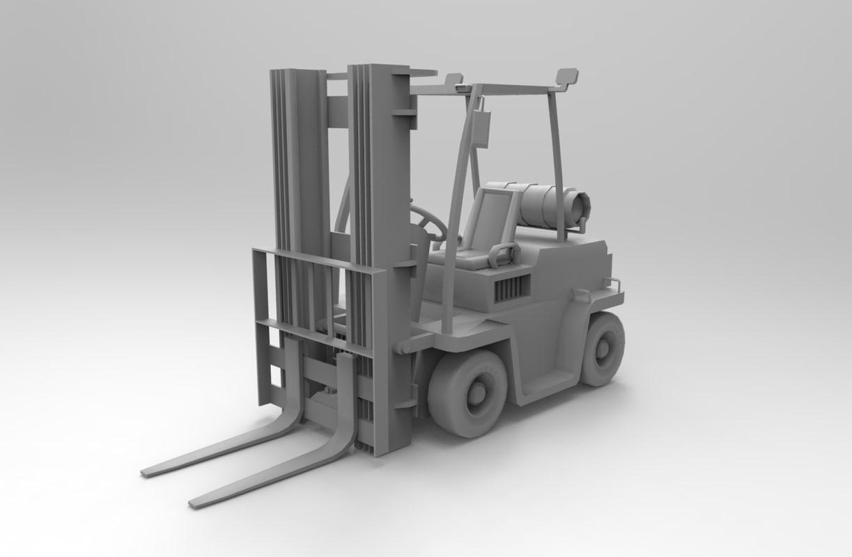 3d fork lift model